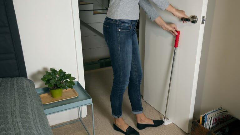 Remedic Long Handle Door Stopper - ruber door stop wedge